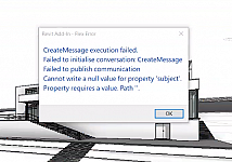 Revit: Cannot write a null value for property 'subject'
